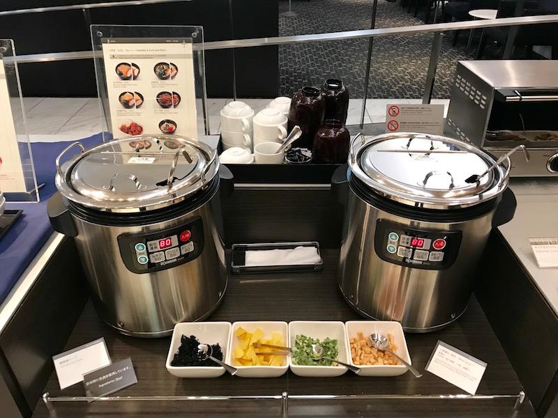 ANA First Class Lounge Tokyo Narita Food Selection