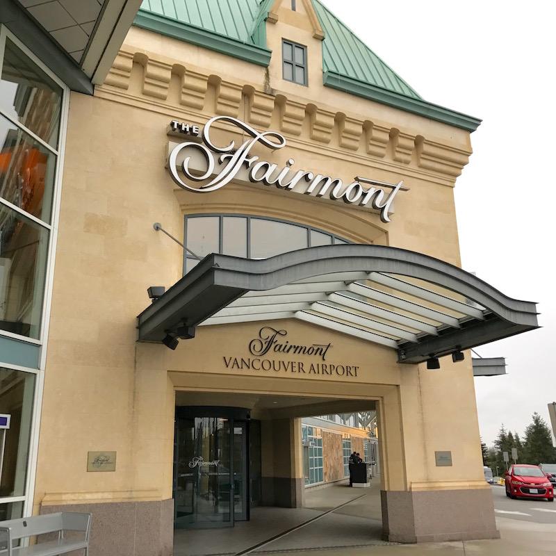 Fairmont Vancouver Airport Hotel Entrance